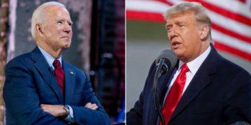 Joe Biden y Donald Trump luchan por los votos electorales