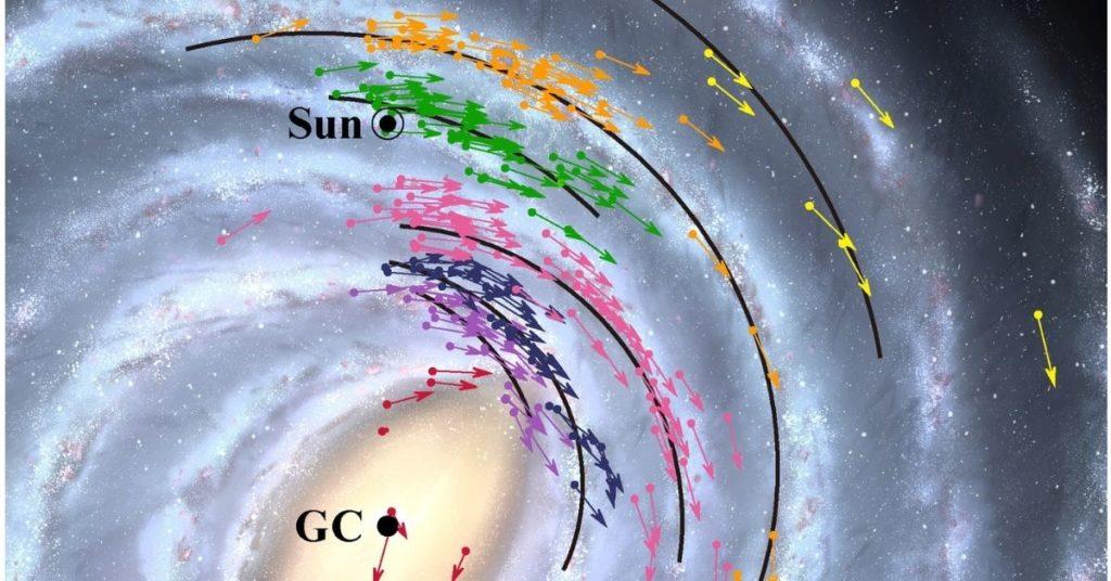 Galaxia y agujero negro.