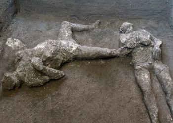 restos de hombres que murieron durante la erupción del volcán Vesubio