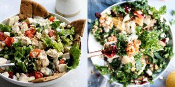 Recetas de ensaladas navideñas saludables y con sus respectivos aderezos que puedes comer frías