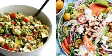 Recetas de ensaladas verdes, sanas y fáciles con verduras y pechuga de pollo