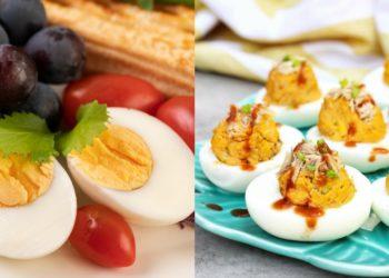 Receta de huevos rellenos en salsa (huevos endiablados)