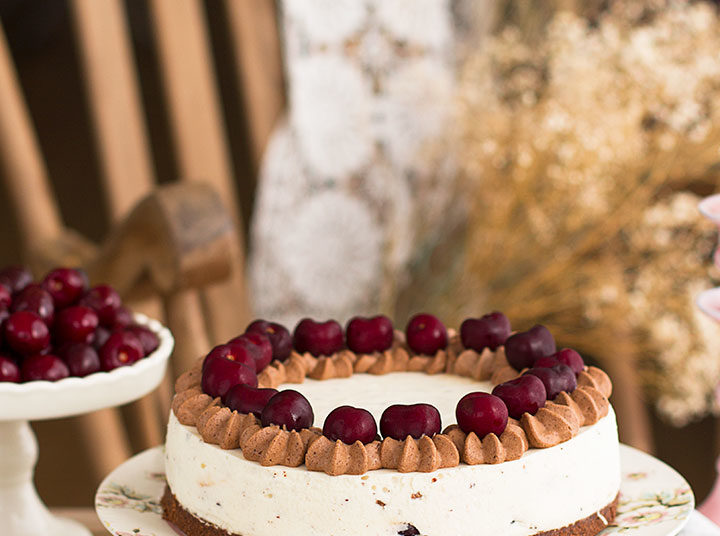 Pastel sin horno con nata y yogur