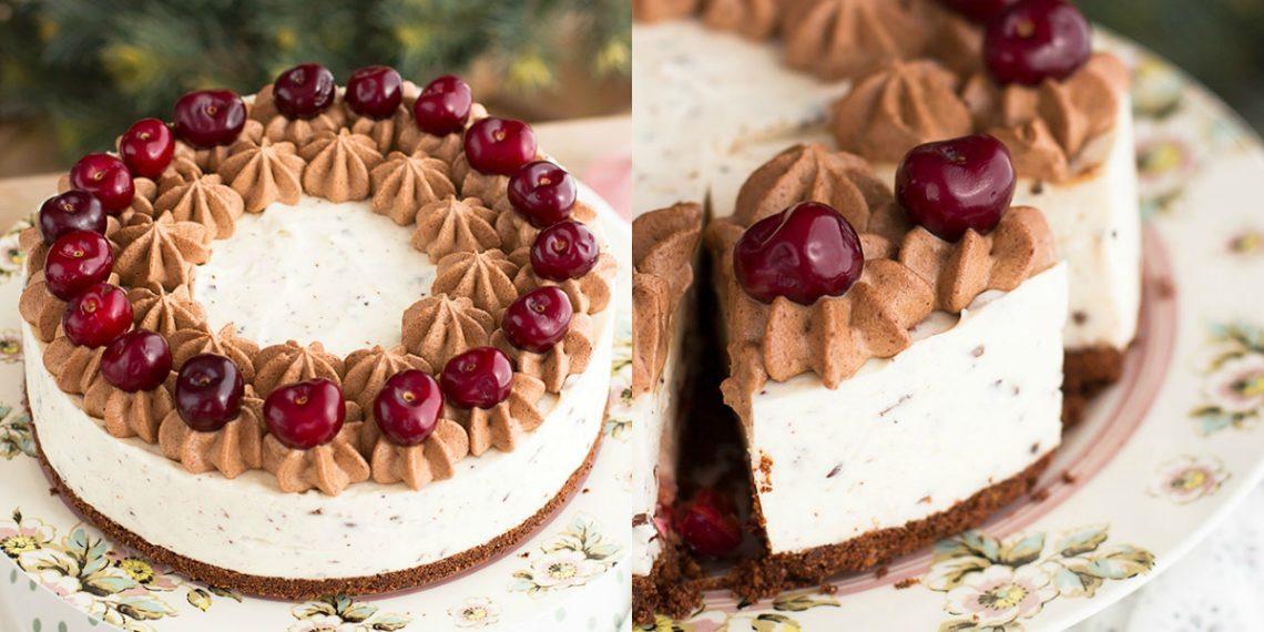 Postre recomendado: tarta de galletas maría rellena de nata y yogur griego