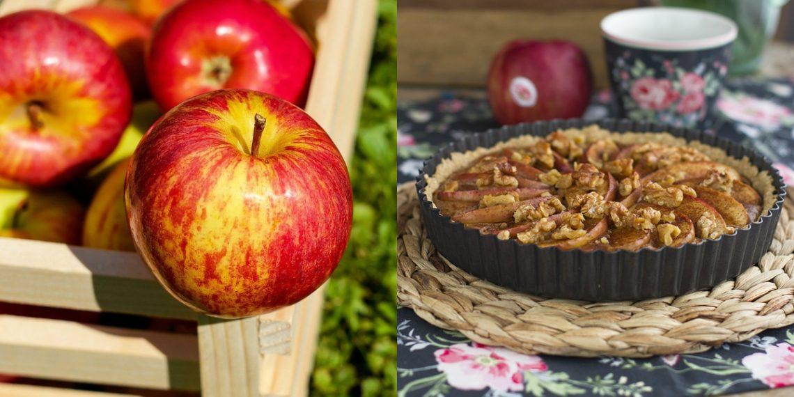 Cómo hacer la masa de una tarta de manzana saludable, fácil y rápida