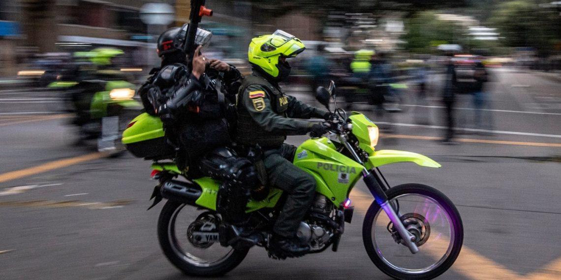 Policía Nacional de Colombia supuesto robo de carro