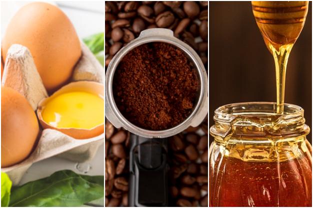 mascarilla de café y huevo