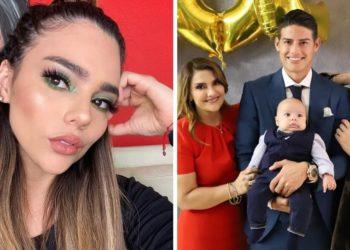 Juana Valentina junto a su hermano James Rodríguez y su madre. Foto: Instagram/ juanavalentina