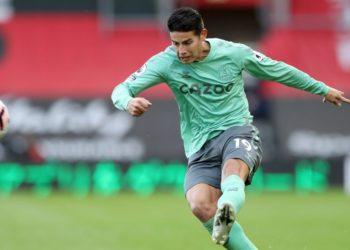 El Everton contará con James Rodríguez contra el Manchester United