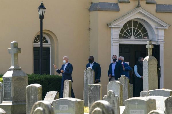 Joe Biden estuvo en la iglesia junto a su familia
