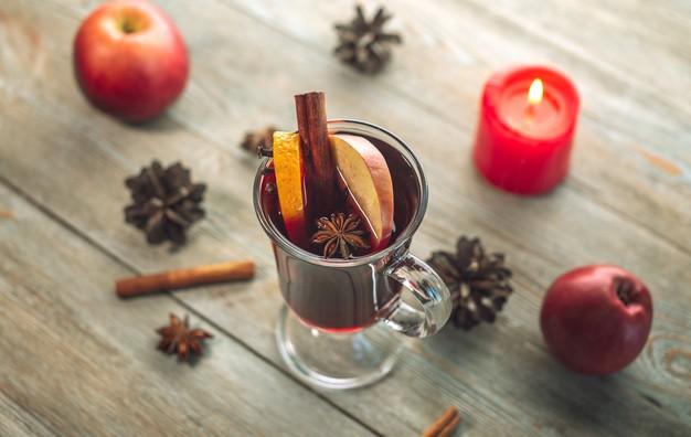 ponche de frutas navideño