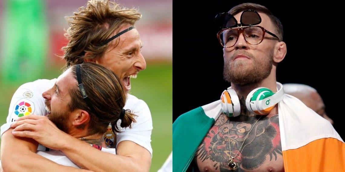 Sergio Ramos reta a Connor McGregor y Luka Modric le hace una broma
