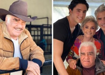 Vicente Fernández junto a su familia. Foto: Instagram/ _vicentefdez