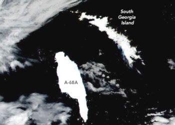El iceberg más grande del mundo amenaza un santuario de fauna en Georgia del Sur