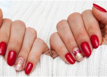 manicure navideño