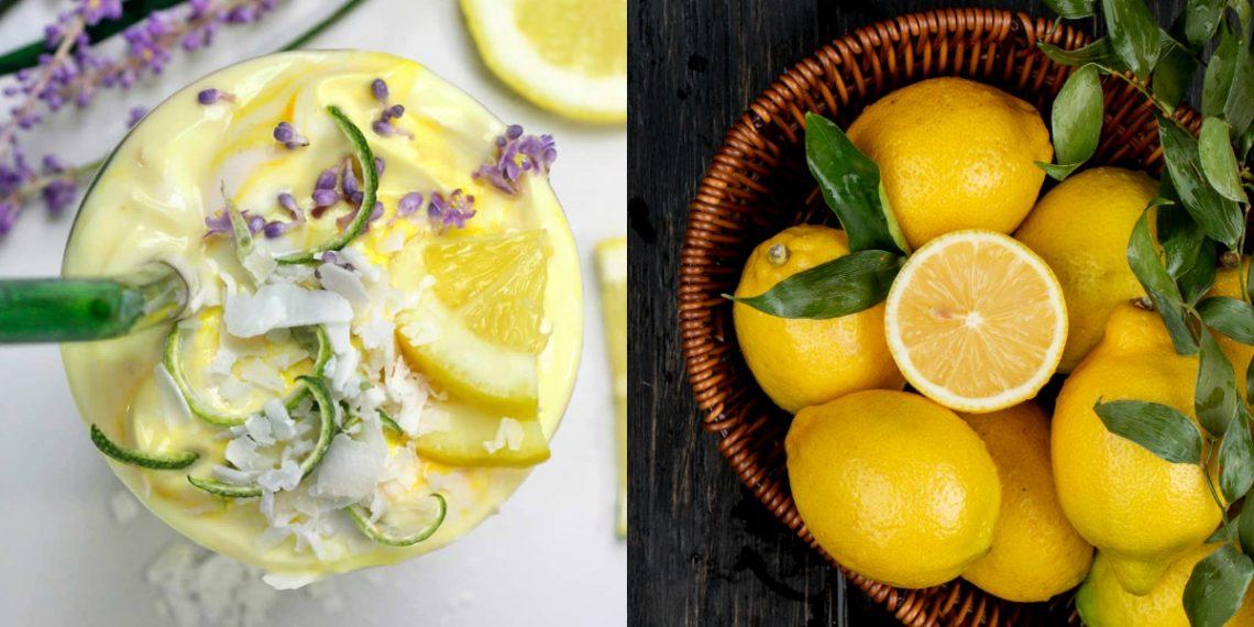 Batido de yogur y limón