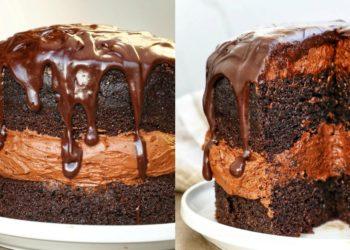 Bizcocho de chocolate casero y húmedo