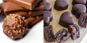 Cómo hacer la receta de bombones de chocolate caseros y rellenos