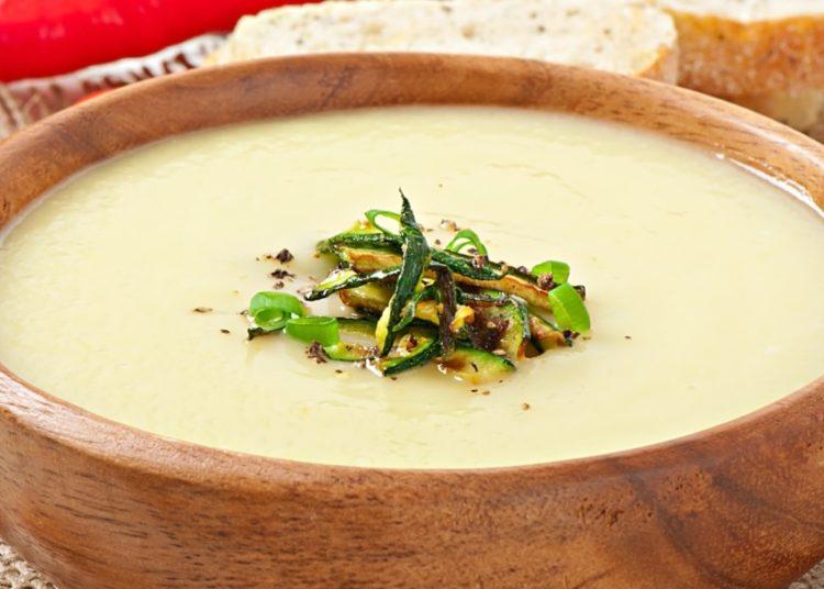 Sopa cremosa sin lácteos