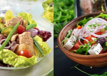 Ensalada de lechuga con: atún, aguacate o tomate