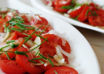 Receta de ensalada de tomate y cebolla