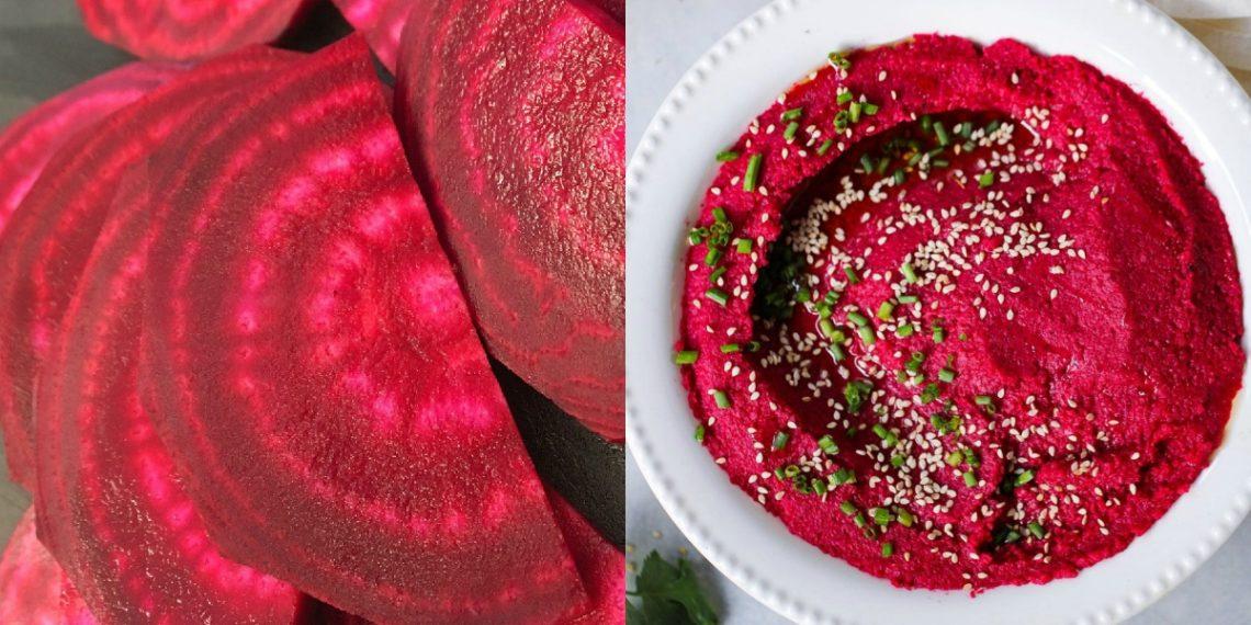 Receta de hummus de remolacha casero