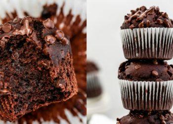 Receta de muffins de chocolate con chips