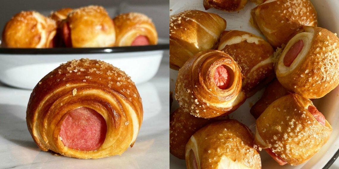 Cómo preparar perros calientes envueltos en pretzel (mini hot dogs)