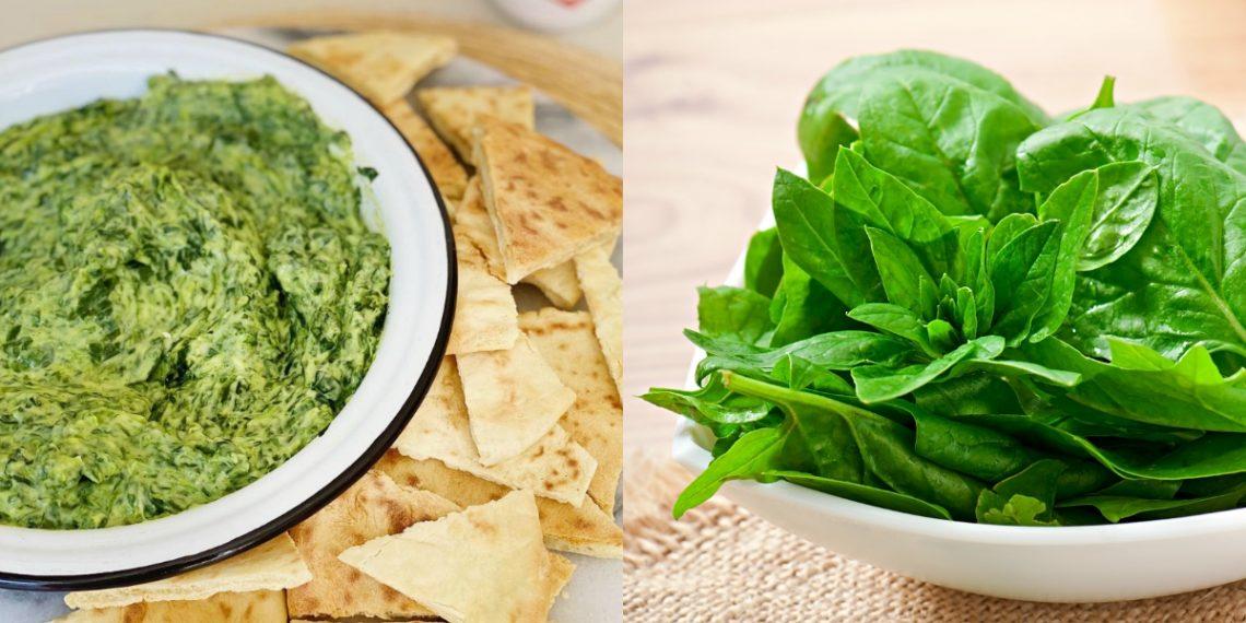 Salsa de espinacas (dip)