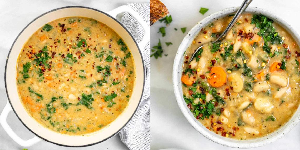 Receta de sopa toscana con frijoles blancos