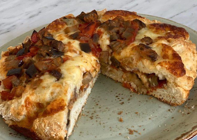 Pastel con queso y verduras
