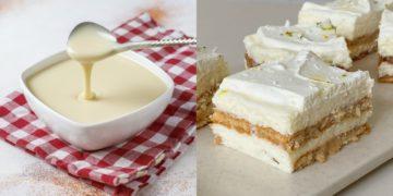 Receta de tarta de limón y galletas con leche condensada