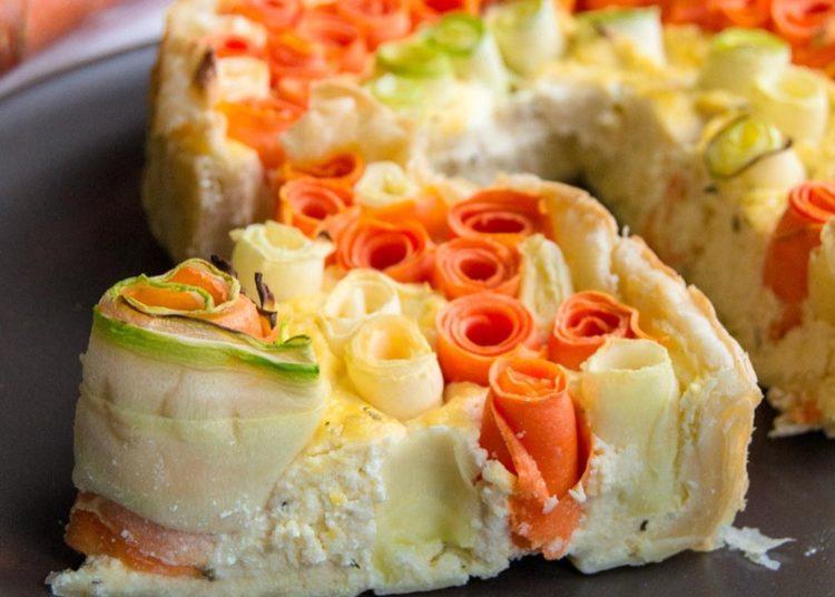 Pastel con calabacín y zanahoria