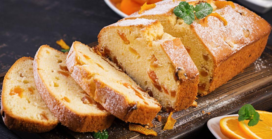 Receta de torta casera de naranja fácil de hacer con harina integral