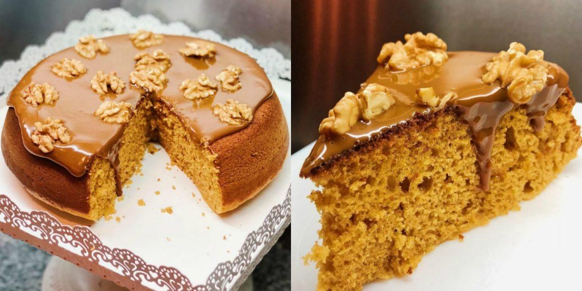 Receta de torta casera fácil y rápida con dulce de leche
