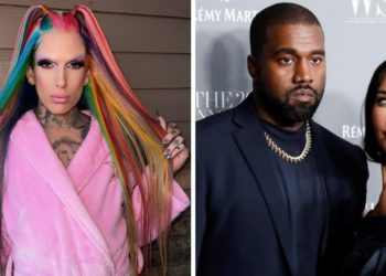 Jeffree Star, Kanye West y Kim Kardashian. Foto: EFE - Instagram/ jeffreestar