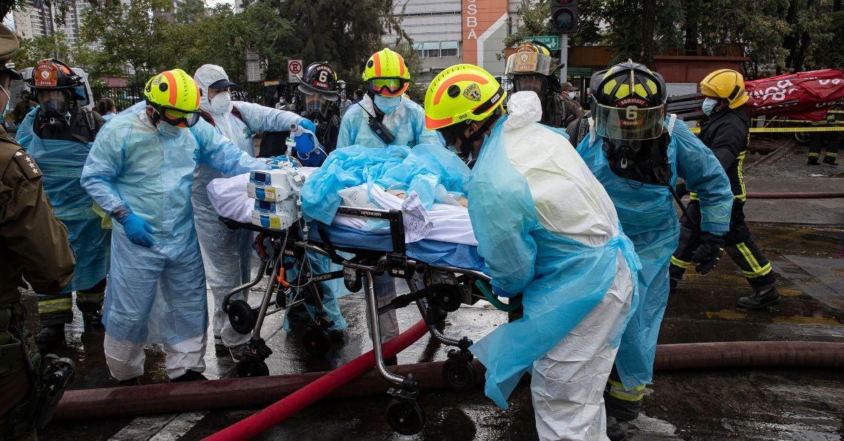 Incendio en hospital de Santiago de Chile