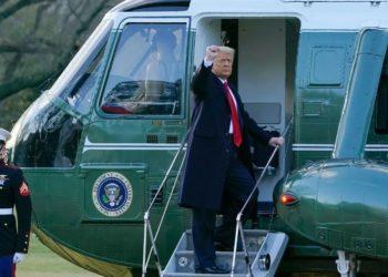 Donald Trump abandona la Casa Blanca