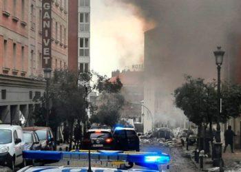 explosión de un edificio en Madrid