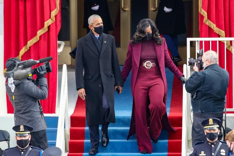 Michelle Obama se robó miradas en la investidura
