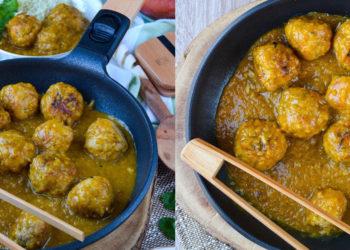 Receta de albóndigas de cerdo caseras en salsa de mango fáciles de preparar