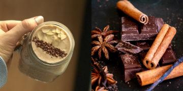 Bebida de cacao, canela y plátano para ganar energía y vitalidad