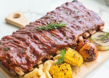 Costillas de cerdo al horno jugosas y fáciles de cocinar