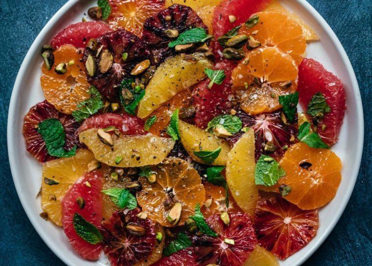 Con mandarinas y toronja