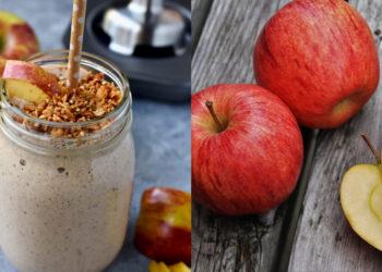 Receta y beneficios del jugo de manzana con leche