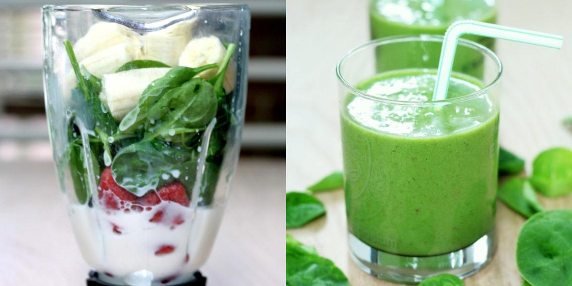 Receta de jugo verde detox con fresas y espinacas
