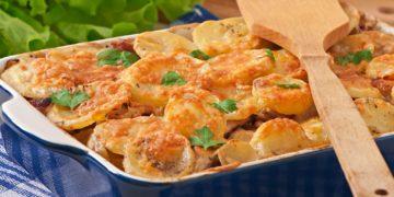Receta de papas gratinadas al horno con crema