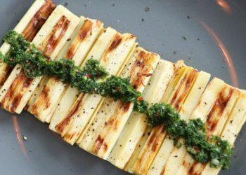 Cómo preparar una receta con palmitos y salsa chimichurri