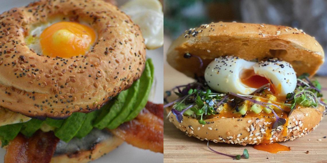 Recetas de bagels rellenos para hacer en casa en el desayuno