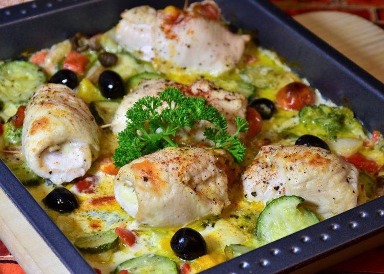 Pollo a la mediterránea